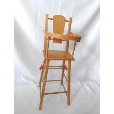 chaise haute de poupee en bois