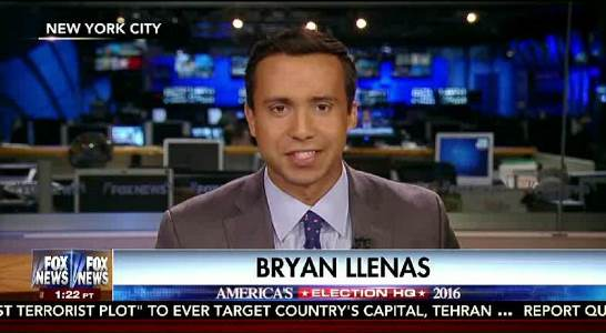 Image result for photos of Fox News reporter Bryan Llenas and john garafola