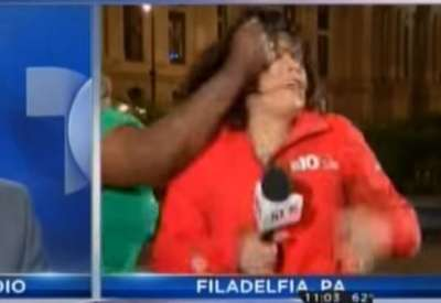 Reporter Punched on Live TV