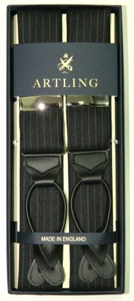 Artling_costume sur mesure_Bretelle Albert Thurston_Tissu Dugdale Tennis grise