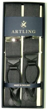 Artling_costume sur mesure_Bretelle Albert Thurston_Tissu Dugdale caviar