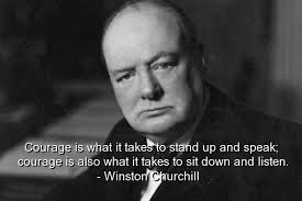 Churchill and Courage
