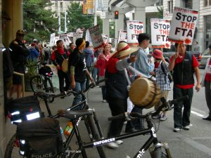 2006 Protest Against Free Trade with South Korea in Seattle