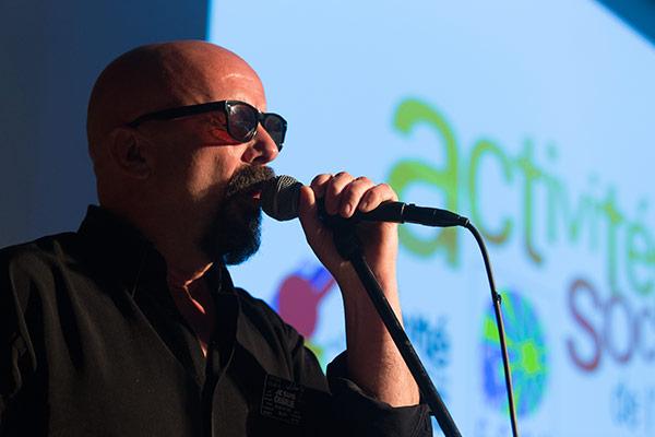 Alain Ortéga en représentation lors de la cérémonie des voeux 2015 de la CCAS©C.Crié/ccas