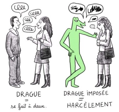 """""""Le harcèlement n'est pas de la drague"""". Détail ©projetcrocodiles.tumblr.com"""