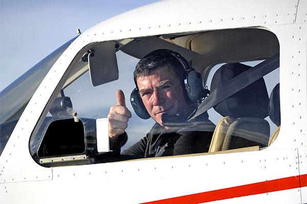 Dominique Dumont, pilote de L'ANEG. Futur inactif. DSP. Un des initiateurs du tour de Corse en Avion © Joseph Marando/CCAS