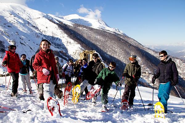 Le groupe fait une pause au sommet © Noémie coppin