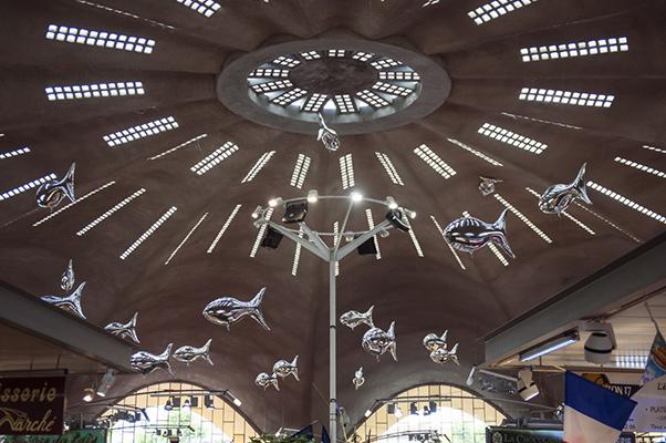 Vue intérieure de la voute du marché central de Royan ©S.LeClezio/ccas