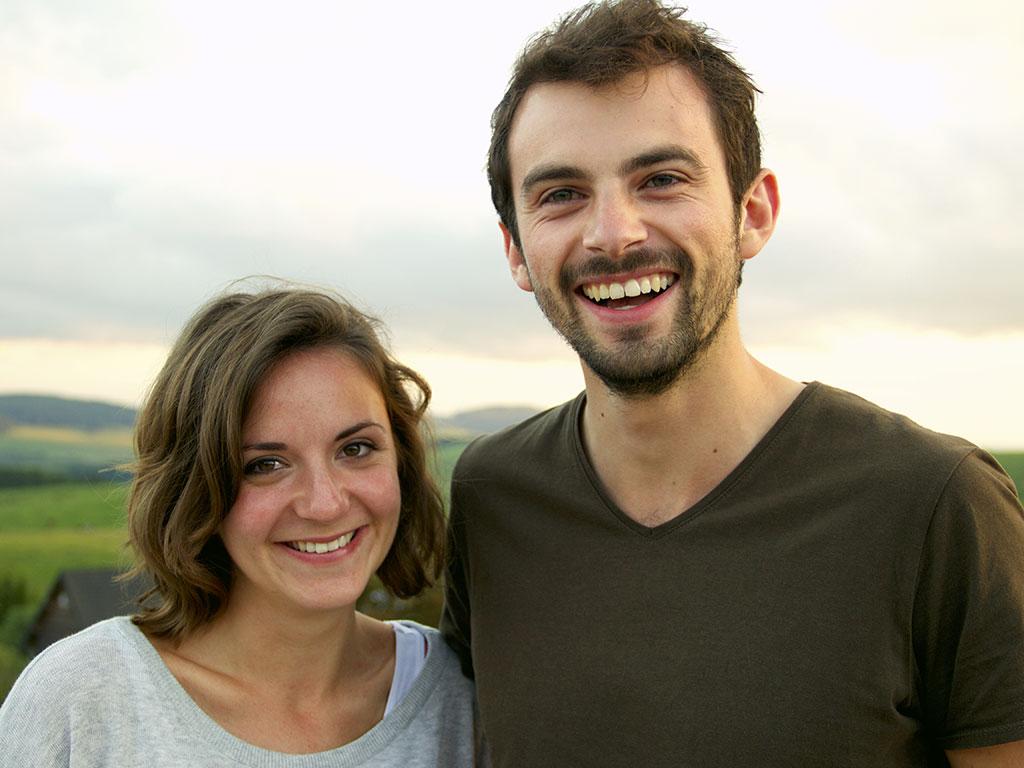 Alison de Boni et Johan Champagnac, agent en informatique chez EDF © Noémie Coppin/CCAS