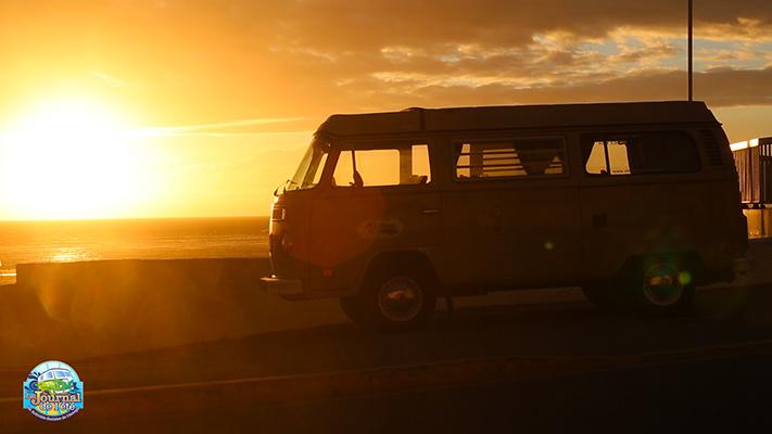 Milky devant le coucher de soleil © Y. Blanchouin/CCAS