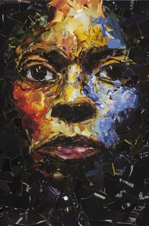 Miles Davis, graphisme-collage, 130x95cm (Paris, 2010). Extrait de « Sous les pavés, le Gitan » ©Mustapha Boutadjine/Editions Helvétius/Artbribus/ADAGP 1114563