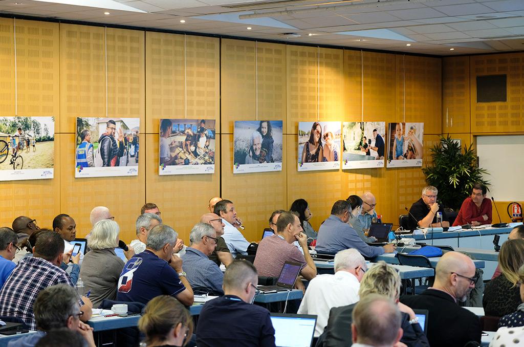 Assemblée générale annuelle des présidents de CMCAS, le 11 octobre 2018 à Montreuil.