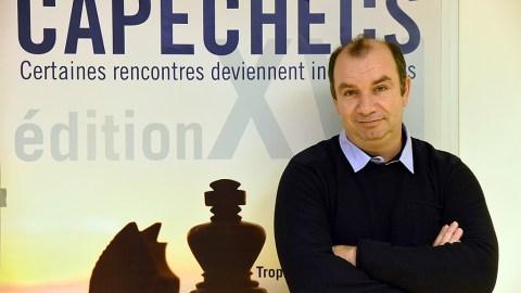 Philippe Villaume, 47 ans, président du club échec de Sète et joueur à CapÉchecs 2018.