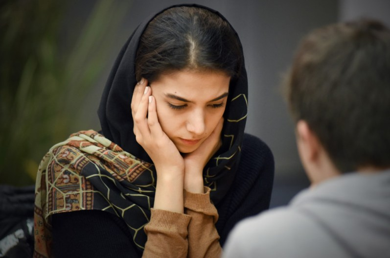 L'Iranienne Khademalsharieh Sarasadat, 21 ans et déjà Maîtresse Internationale (GMI 2431). ©Joseph Marando/CCAS