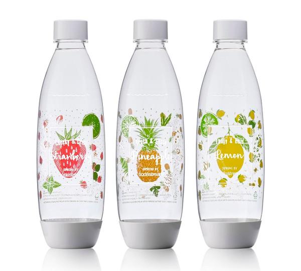 שלישיית בקבוקי סודהסטרים בעיצוב אביבי