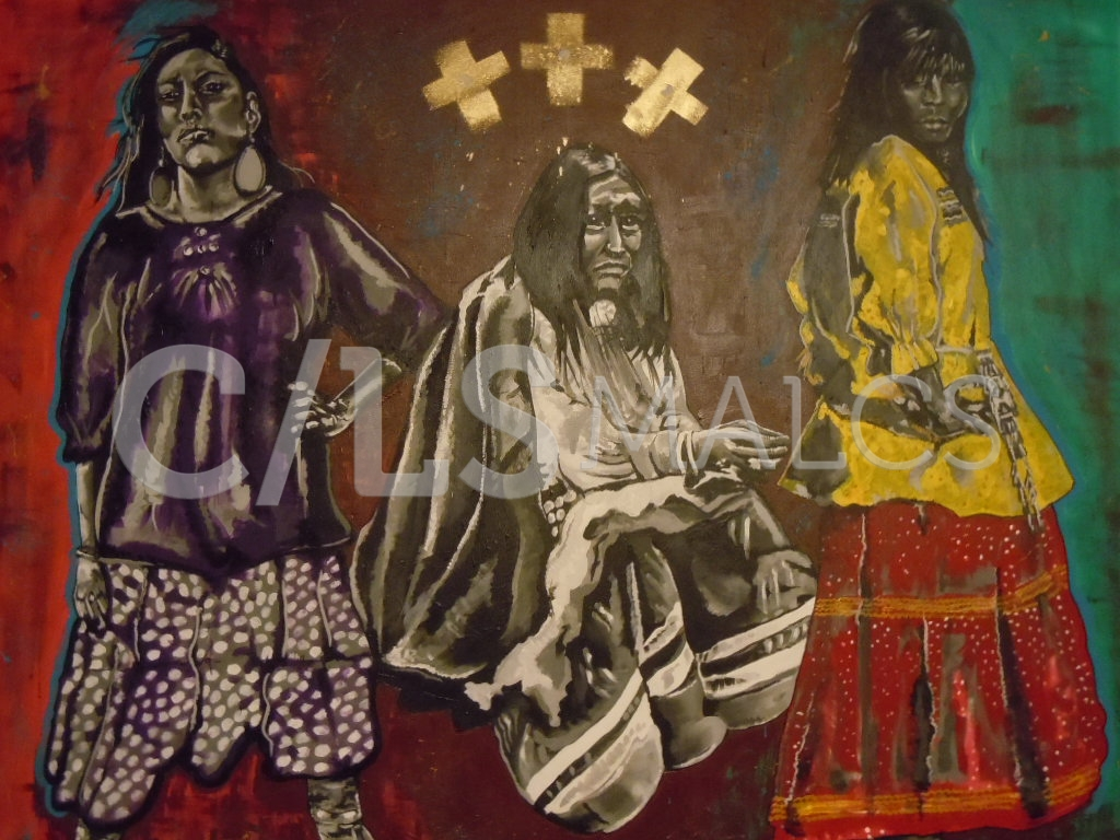 """""""Spirit of the Dresses"""" by Carrie Reede Curley (Apache)"""