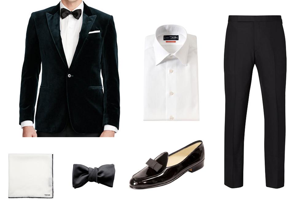 velvet blazer styleforum holiday style outfit grid