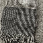 BEGG & CO KISHORN LIGHTWEIGHT CASHMERE SCARF IN GREY PLAID