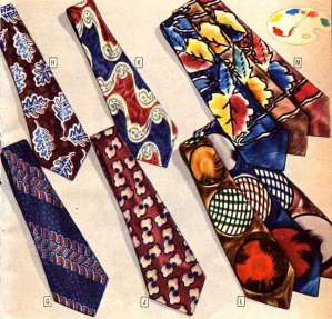 Abstract design swing ties of the 1940's.