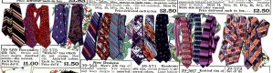 Colorful 1920's ties.