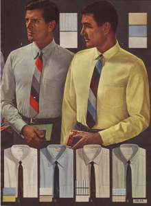 Slim, block stripe 1960's ties by decades.