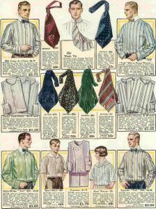 Ties by decade - Wide brocade ties of the 1910s.