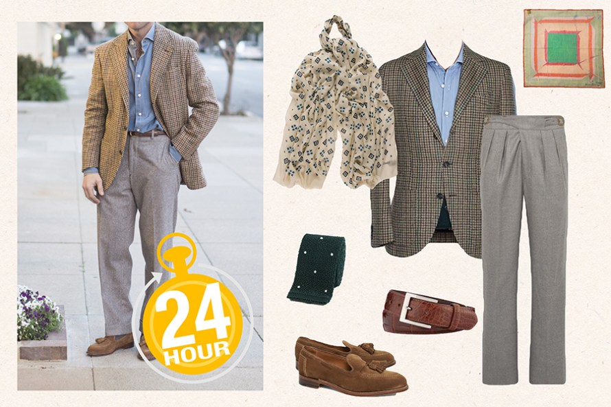 what to wear on 24 hour trip menswear sport coat tailored