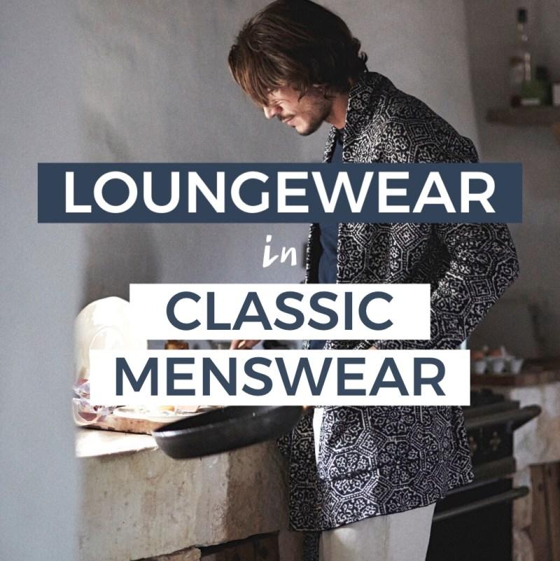 loungewear menswear classic nightrobe pajamas pj nightrobe