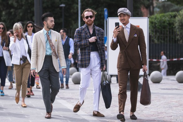 pitti uomo 94 streetstyle florence suits menswear