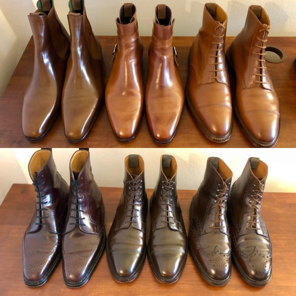 cordovan leather boots