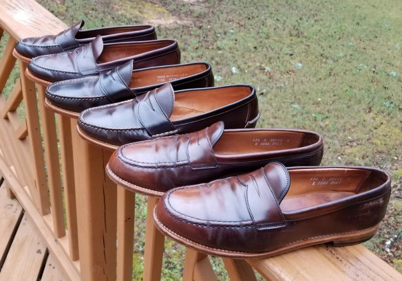 cordovan leather loafers