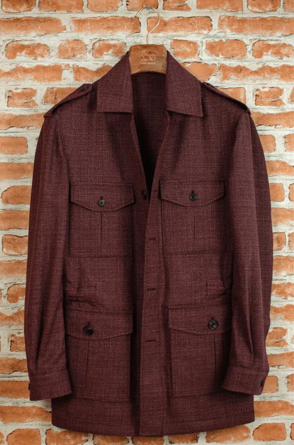 Lopez Aragon jacket burgundy