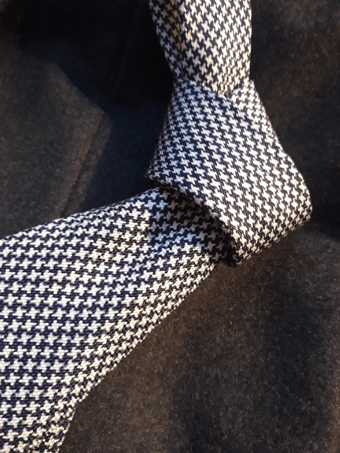 macclesfield tie houndstooth silk