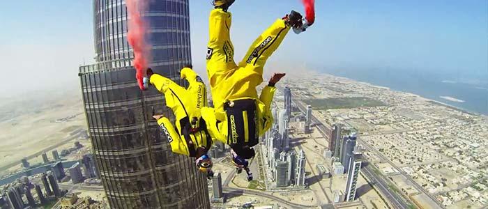 Burj Khalifa Pinnacle Base jump, Dubai.