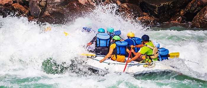 Most thrilling adventure trips with White River Rafting, India.