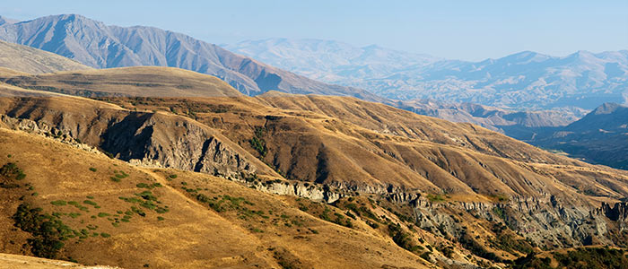 Selim Pass old silk road with Armenian countryside views