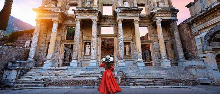 The ancient Greek city of Ephesus