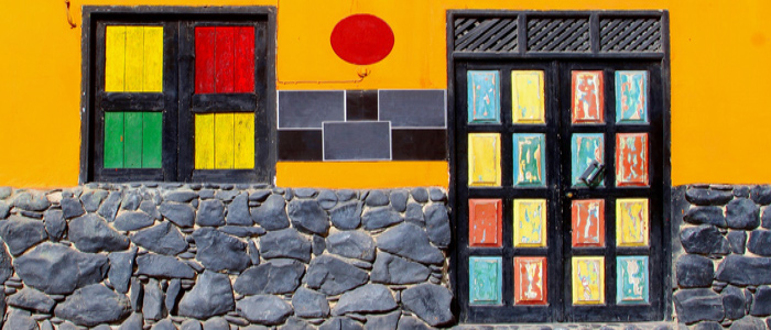 cape verde beautiful painted streets