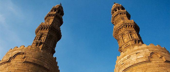 views of historic Cairo from Bab Zuweil's Minarets