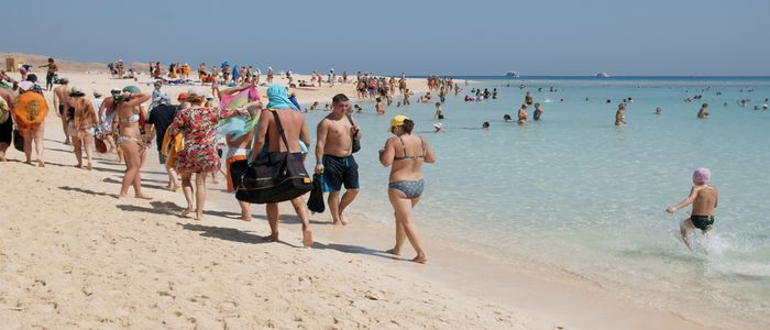 Visiting the beaches of Hurghada