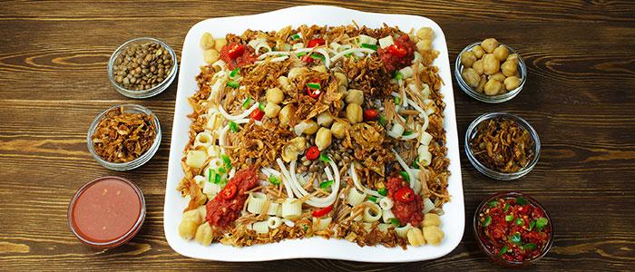 things to do in Egypt- koshari dish