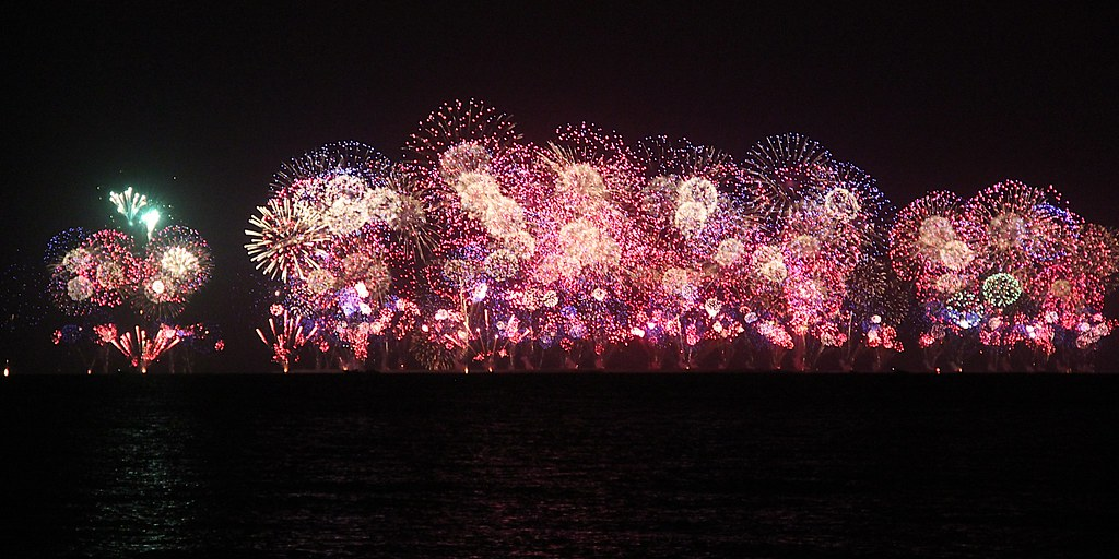 New Year In Dubai 2021 with fireworks