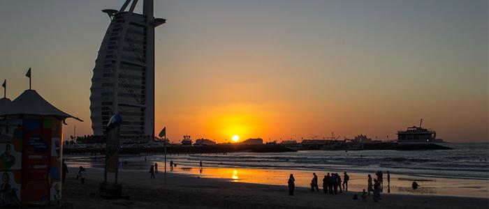 Places To Visit In Dubai At Night -Jumeirah Public beach