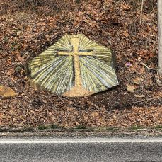 "February 17, 2020 ""The Painted Cross"" For several weeks, I drove by this painting.…"