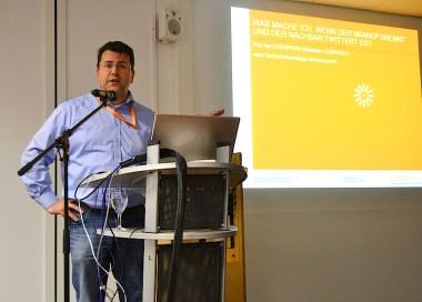 Mark Mätschke referierte über digitale (Krisen-)Kommunikation im Social Web.