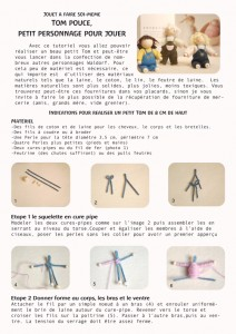 Page1 du Tutoriel pour réaliser un petit personnage Waldorf. Revenez le 1er Mai pour avoir l'intégralité de ce tutoriel gratuit.