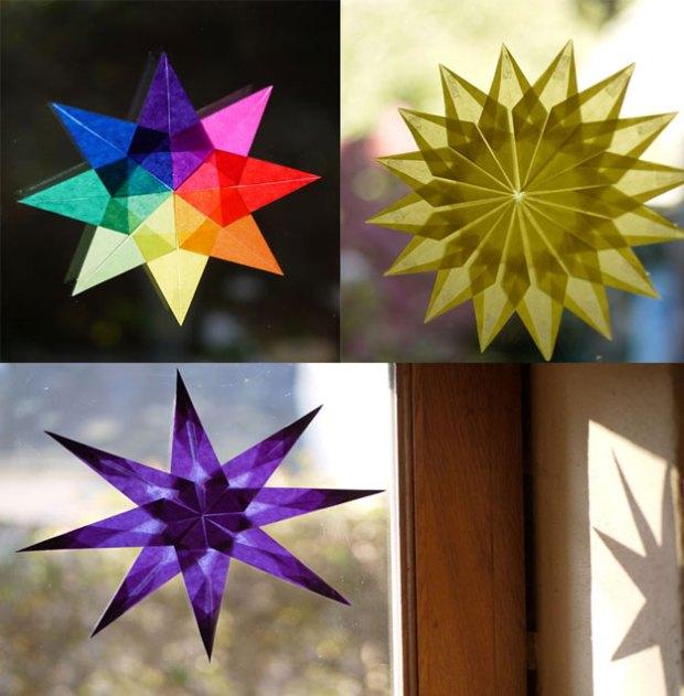 Nos étoiles Waldorf s'illuminent dès que les rayons du soleil passent à travers