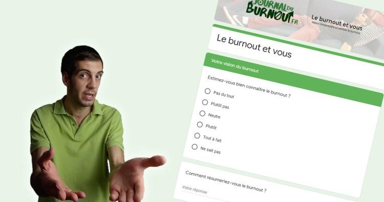 Le burnout et vous : lancement de l'enquête
