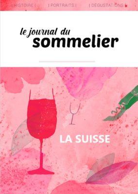 Illustration temporaire de la couverture du livre sur le vignoble suisse du journal du sommelier