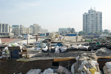 Mumbai India Photojournalism Travel Dharavi Slum Industry Rooftops